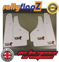 ASTRA GTC  VXR (2012+) WHITE MUDFLAPS LOGO SILVER/RED
